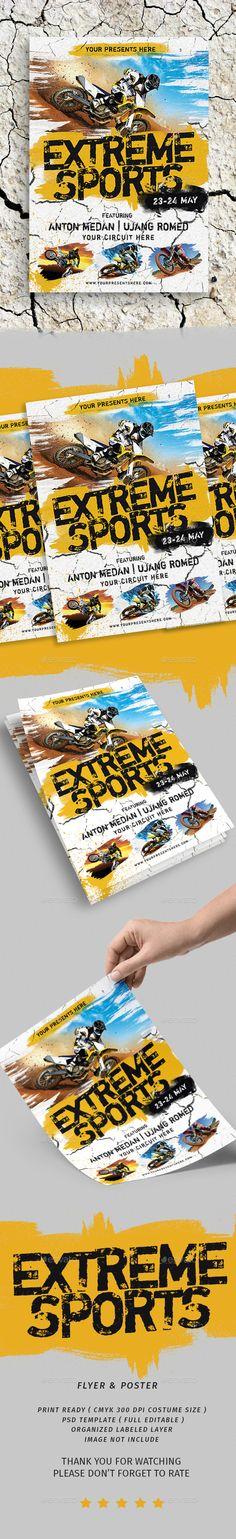 Extreme Sport Flyer Flyer Templates Pinterest Flyer Template