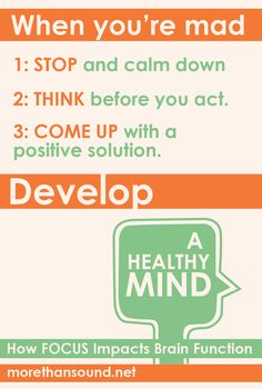 Stop. Think. Revise. Learn ways to manage anger with Develop a Healthy Mind: How Focus Impacts Brain Function.