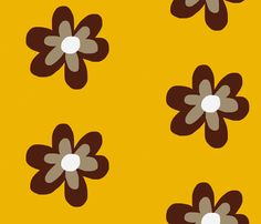 Flower fabric by mofje on Spoonflower - custom fabric