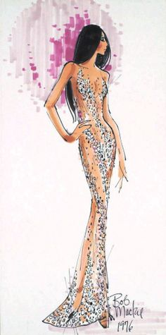 Bob Mackie sketch for Cher concert costume 1970's