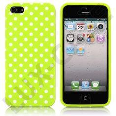 White Dots (Grønn) iPhone 5 Deksel Iphone Cases, I Phone Cases