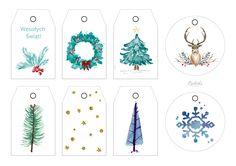 etykiety świąteczne na prezenty