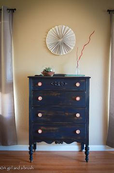 Like this color to paint the buffet | General Finishes Coastal Blue Milk Paint
