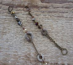 found metal and crystal earrings  http://www.etsy.com/listing/98287297/sale-found-metal-and-crystal-earrings