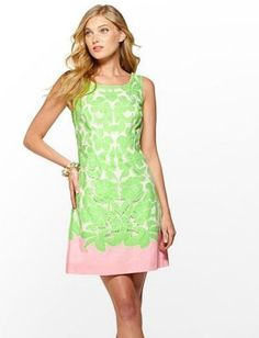 Shopping Mad Men: Print Frenzy lime and pink dress