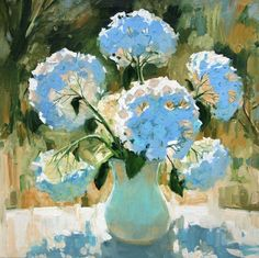 Maria Pavlova.  Hortensias azules