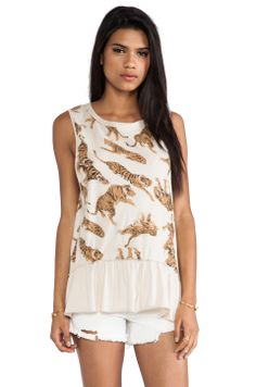 Chaser All Over Tiger Tank in Antique White from REVOLVEclothing