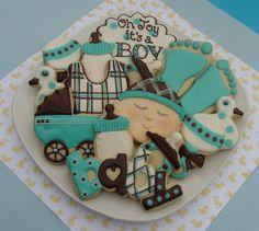#Baby Shower #boy #cookies