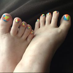 Toe nail art for Spring and Summer