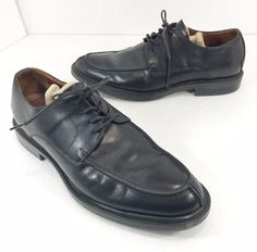 Johnston & Murphy Mens Size 9 Black Leather Oxford Shoes Made in Italy #JohnstonMurphy #Oxfords #Formal
