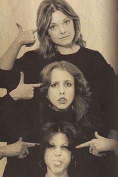 The original SNL women cast members: Jane Curtin, Laraine Newman, and Gilda Radner (1975)
