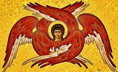 Seraphim Angels occupy the first position in the angelic hierarchy, they are so important because they are the angels closest to God. The Seraphim are Byzantine Art, Byzantine Icons, Religious Icons, Religious Art, Film Le Secret, Angel Hierarchy, Order Of Angels, Seraph Angel, Cherub