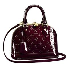 Louis Vuitton Monogram Vernis Alma BB Amarante are for people who love the high fashion look. Their designs are unmistakable, they are elegant, sophisticated and beautiful. Buy Louis Vuitton Now! Louis Vuitton Alma, Louis Vuitton Shoes, Louis Vuitton Handbags, Louis Vuitton Speedy Bag, Women's Handbags, Vuitton Bag, Leather Handbags, Leather Bag, Black Leather