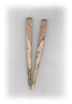 Wooden Hair Sticks Beautiful Partial by CrockettMountainWood, $17.00