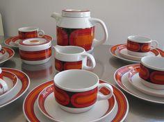 "Coffee set, form ""3000"", decor ""Sizilia"" (Hans Theo Baumann for Arzberg, 1970)"