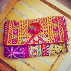 Another gorgeous one of a kind Batala clutch.