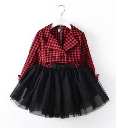 Calsunbaby Infant Baby Girl Dresses Red and Green Plaid Tutu Skirt Party Princess Sundress