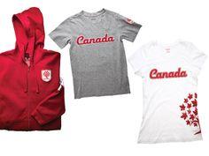 T-shirts et chandail à capuchon de la collection Canadiana