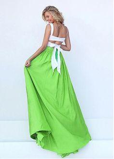 Energetic Taffeta Sweetheart Neckline A-line Two-piece Prom Dresses
