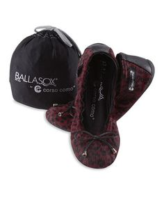 3d6ae1e6d Another great find on  zulily! Ruby Leopard  amp  Black Elke Leather Ballet  Flat