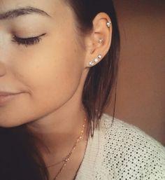 Conch, hellix, ear piercings