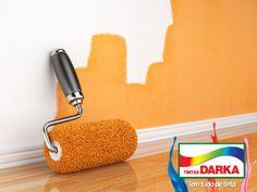 Não esqueça de colar fita-crepe nos rodapés, tetos trabalhados, maçanetas, batentes de portas e janelas para não danificá-los com a pintura. http://tintasdarka.com.br/