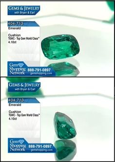 This stunning 4.01 ct emerald has very nice color and clarity and is for sale at Gem Shopping Network