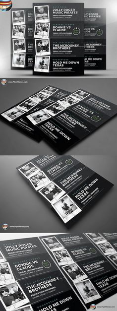 Indie Club Line Up Flyer Template. Flyer Templates. $9.00