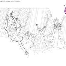 Coloriage grand jet danseuse colorier pergamano - Barbie danseuse magique ...