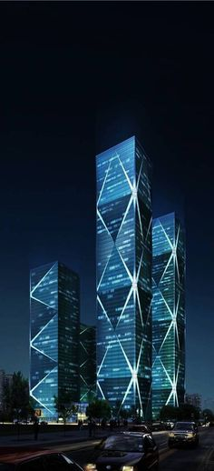 Excellence Century Plaza Towers / Wongtee V Hotel, Shenzhen, China by Leo A. Daly Architects :: 60 floors, height 280m