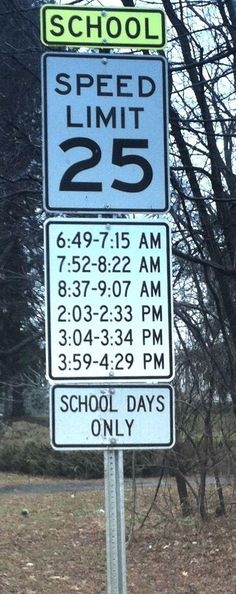 White Lake school-zone speed sign with 6 separate times irks driver