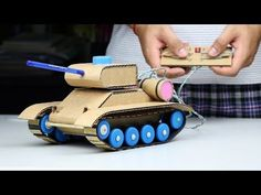 Wow! Amazing RC Tank DIY at Home - Mini Gear RC Tank - YouTube
