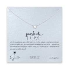 Top 50 Gifts: pearls of love white pearl necklace, sterling silver #Dogeared #ShareTheHappy