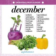 Groenten en fruitkalender december Healthy Recepies, Eat To Live, Seasonal Food, Baking Tips, Healthy Life, Healthy Food, Superfood, Food Hacks, Great Recipes