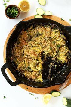Easy Vegan Parmesan Gratin! 10 ingredients, under 1 hour and SO delicious #vegan