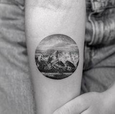 Landscape tattoo by Sanghyuk Ko
