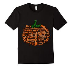 Men's, woman's and kids pumpkin shaped Halloween word cloud t-shirt.  Comes in black and white.  Great for teachers working on Halloween vocabulary.  Says the following words: Boo, Scary, Bat, Jack O Lantern, Hocus Pocus, Ghosts, Bones, Skeletons, Potions, Spider Web, Pumpkins, Halloween, Trick-or-Treat, Black Cat, Candy, Haunted House, Broom, Witch, Fairy Princess, Oct. 31, Costume