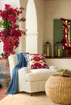 Lanterns, bougainvillea & nice textures