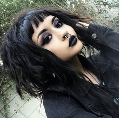 Scene Hair - My Kitchen farm Edgy Makeup, Grunge Makeup, Dark Makeup, Makeup Inspo, Makeup Inspiration, Beauty Makeup, Hair Beauty, 90s Grunge Hair, Asian Makeup