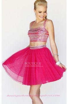 #red #homecoming_dress Organza Spaghetti Straps Natural Mint Prom Dress