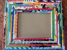 ilovethis. Recycled magazine picture frame! #DIY