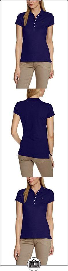Tommy Hilfiger New Chiara Str Pq Polo Ss, Polo Para Mujer, Azul (Medieval Blue 716),  M  ✿ Blusas y camisas ✿
