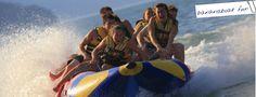 Harrison Lake Activities from Harrison Hot Springs...Bannana boat fun on the lake
