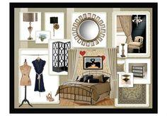 Bedroom moodboard #olioboard Interior Design Boards, Mood Boards, Entryway, Gallery Wall, Bedroom, Frame, Furniture, Home Decor, Entrance