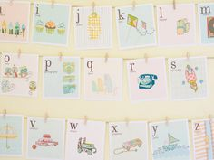 DIY Vintage Alphabet Cards - For kids' rooms!