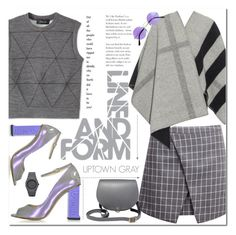 """Uptown Gray"" by alexandrazeres ❤ liked on Polyvore featuring Derek Lam, Burberry, Camilla Elphick, N'Damus and CC"