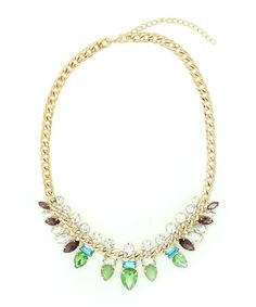 Another great find on #zulily! Gold & Green Indie My Neck Necklace by Eye Candy LA #zulilyfinds