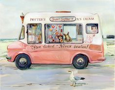 Claire Fletcher Artist Ice Cream From A Van