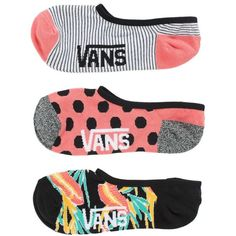Vans Happy Dance Canoodles 3 Pack ($14) ❤ liked on Polyvore featuring intimates, hosiery, socks, pink, vans socks, pink socks, cotton socks and low cut socks