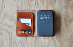 Leather Storyteller Journal Field Notes Cover door MidamMercantile